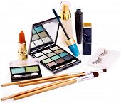 Group decorative cosmetics for makeup.