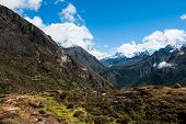 Lhotse And Ama Dablam Peaks: Himalaya Landscape