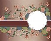 Floral Retro Background Vector