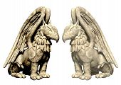 3D Statues Griffin From Stone