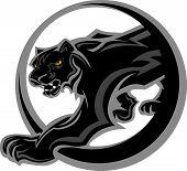 Pantera mascota cuerpo gráfico vectorial
