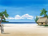 stock photo of tropical island  - Background - JPG