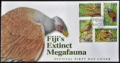 FIJI - CIRCA 2006: A postcard printed in Fiji dedicated to fiji�s extinct megafauna circa 2006