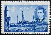 IRAN - CIRCA 1966:A stamp printed in Iran shows image of Persepolis circa 1966.
