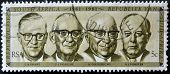 South Africa - Circa 1981: A Stamp Printed In Rsa Shows Presidents 1961-1981 (swart, Fouche, Diederi