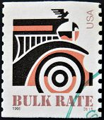 UNITED STATES OF AMERICA - CIRCA 1995: A stamp printed in USA shows an Automobile circa 1995