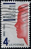 A stamp printed in the USA shows Boy's Clubs of America movement