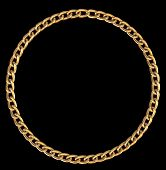 Frame With Golden Chain