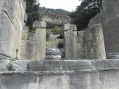 Ruins of Roman temples-tombs.