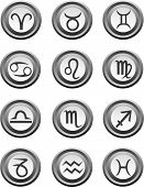 Web Buttons With Astrology Signs