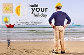 Build Your Holiday On Beach