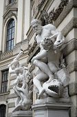 Statue At Entrance To Hofburg Palace In Vienna