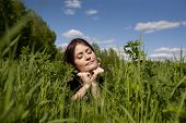 Lying In Grass Enjoying Sun