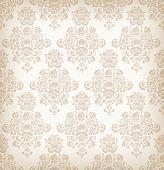 Seamless floral retro pattern.