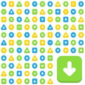 over one hundred different arrow icons on white