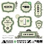 picture of cpa  - Vector Money and Financial Frame Set - JPG