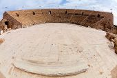 Antike römische Amphitheater in Caesarea in Israel