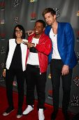 LOS ANGELES - MAY 8:  Michelle Chamuel, Vedo, Josiah Hawley arrives at