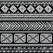 foto of tribal  - Abstract tribal pattern - JPG
