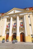 SOPOT, POLAND - MAY 06, 2013: Facade of Sofitel Grand Hotel on May 6, 2013 in Sopot. This five stars