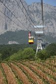 cable-way on Ai-Petri mountain, Crimea, Ukraine