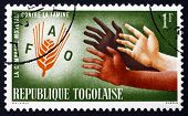 Postage Stamp Togo 1963 Hands Reaching For Fao Emblem
