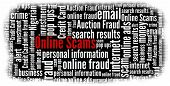 Online Scams in word collage