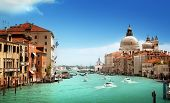 stock photo of church  - Grand Canal and Basilica Santa Maria della Salute - JPG