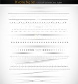 stock photo of divider  - Big collection of web dividers for web applications - JPG