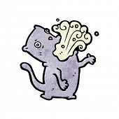 pic of belching  - cartoon belching cat - JPG