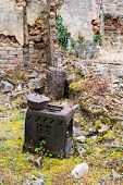 Destroyed kitchen utensil Oradour sur Glane in the French Limousin