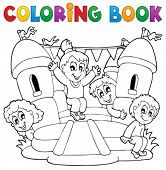 Coloring book kids play theme 5 - eps10 vector illustration.