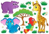 Cute African animals collection 1 - eps10 vector illustration.