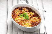 baked Mexican mixture with mozzarella