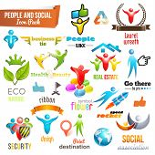People Social Community 3d icon and Symbol Pack. Vector design elements. Change color of icons in ac