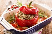 stock photo of pimiento  - stuffed pepper - JPG