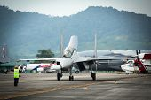 LANGKAWI, MALAYSIA - MAR 26: Su-30MKM (Sukhoi, NATO reporting name: Flanker-C) performing during on