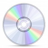 Blue-ray, DVD or CD disc. Raster version
