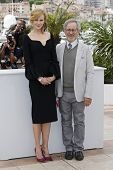 CANNES, FRANCE - MAY 15: Nicole Kidman, Steven Spielberg at the Jury photocall during the 66th Annua