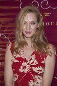 NEW YORK-DEC 16: Actress Uma Thurman attends the 11th annual Tibet House US Benefit Auction at Christie's Auction House on December 16, 2013 in New York City.