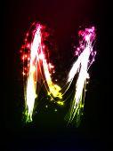 neon alphabet (letter)