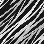 Silver Zebra Print