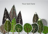 Forest background made of stickers