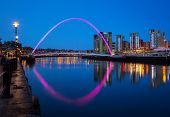 picture of tyne  - Millenium bridge over the River Tyne in the Quays district of Newacstle upon Tyne - JPG