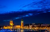 stock photo of incredible  - Big Ben and parliament of West minster across the Thames river in London - JPG