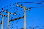 High voltage poles.