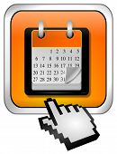 Calendar button with Cursor