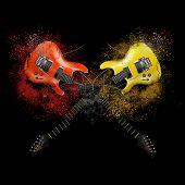 Broken guitar.