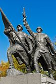 stock photo of guardsmen  - Sculptural composition Victory - JPG