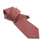 Red Tie With A Repeating Pattern